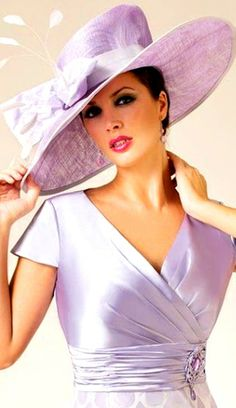 Lovely Lavender Derby style hat