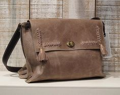 Taupe leather bag, soft leather bag, taupe bag crossbody