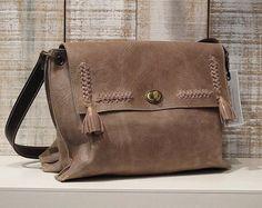 Taupe leather bag, soft leather bag, taupe bag crossbody