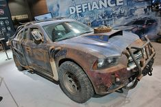 Heavily modified late-model Dodge Charger from Defiance TV Series set in 2046. Picture 2013.