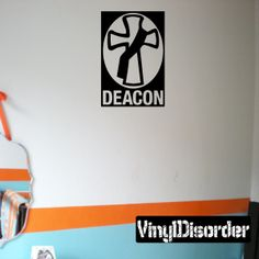 Pastor Cross Wall Decal - Vinyl Decal - Car Decal - DC066