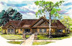 Plan 12929KN: Mountain Home with Outdoor Living Space