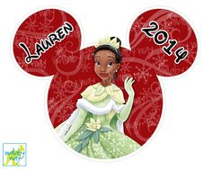 Disney Winter Princess Tiana Printable Iron On Transfer or use as Clip Art by TheWallabyWay - Perfect for Mickey's Very Merry Christmas Party! - DIY Disney Shirt - Also see matching designs!
