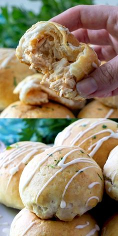 Buffalo Chicken Bomb - Recipe Videos Family Fresh Meals - These Buffalo Chicken Bombs are a great appetizer or light dinner idea. Stuffed with chicken, and c - Yummy Appetizers, Appetizer Recipes, Dinner Recipes, Appetizer Ideas, Chicken Bombs, Buzzfeed Tasty, Good Food, Yummy Food, Cooking Recipes