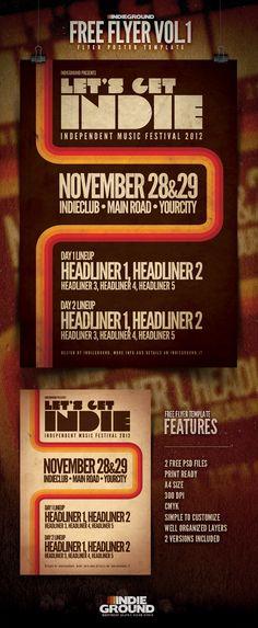 Free Flyer Template Vol.1 « Indieground Graphic Design Blog & Flyer Templates