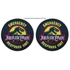 Superheroes Jurassic Park Movie Emergency Response Embroidered Iron/Sew-on Applique Patches Jurassic Park, Pin And Patches, Iron On Patches, Jacket Patches, Lightning Bug Crafts, Fantasy Football Names, Emergency Response, Templates Printable Free, Camino De Santiago