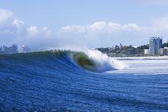 Golden Lines: Perfect tubes tear through the Gold Coast. #SURFER #SURFERPhotos