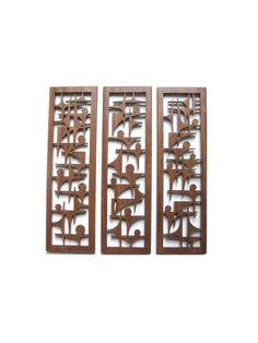 Abstract Mid Century Modern Fretwork Grouping by FredArndtArtworks