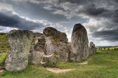 West Kennet Long Barrow is a Neolithic tomb or barrow, situated on a prominent chalk ridge, near Silbury Hill.