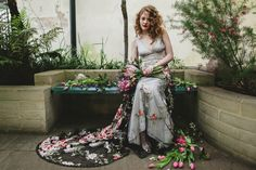 Black and floral lace wedding dress.  From 'Red hair and red lipstick, from 'Claire Pettibone's 'Still Life' Collection ~ Ethereal and Whimsical Wedding Dresses'    Photography - http://jesspetrie.com/  Styling - http://www.whiteroombridal.co.uk/  Gowns - http://www.clairepettibone.com/  Florals - http://www.campbellsflowers.co.uk/Page/Show/2/Home