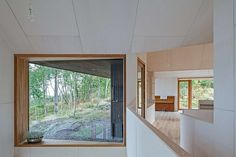 : Minimalist Window With Wide Sill To Display Greenery In House Holmestrand Schjelderup Trondahl Architects