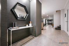 Display Homes Perth - Double & Two Storey Ventura Homes, Storey Homes, Display Homes, Black Accents, House Design, Entertaining, Mirror, Modern, Furniture