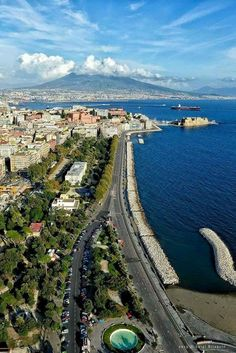 Dal lungomare Caracciolo  ✈✈✈ Here is your chance to win a Free International Roundtrip Ticket to Naples, Italy from anywhere in the world **GIVEAWAY** ✈✈✈ https://thedecisionmoment.com/free-roundtrip-tickets-to-europe-italy-naples/