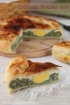 TORTA SALATA PASQUALINA VERSIONE FACILE un piatto tipico Ligure che fa subito primavera, che buono! http://blog.giallozafferano.it/statusmamma/torta-salata-pasqualina-facile/   #Pasqua