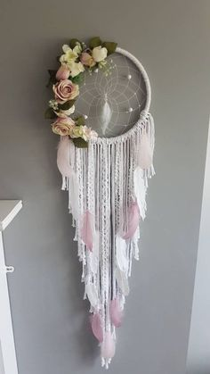 Your place to buy and sell all things handmade Dream Catcher Decor, Dream Catcher Boho, Dream Catchers, Diy Dream Catcher Tutorial, Boho Dekor, Hoop Dreams, Rosa Rose, Craft Projects For Kids, Craft Ideas