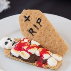 Bloody Skeleton S'mores - Allrecipes.com