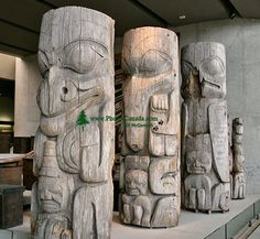 Haida Totem Poles, Museum of Anthropology. British Columbia, Canada CM11-02   (Photo not for sale)