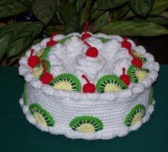 Kiwi Cherry Treasure Cake PDF Crochet Pattern