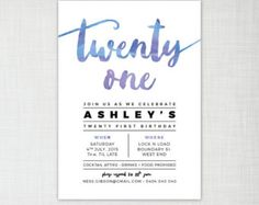 Items similar to birthday party glitter effect invitation - black or white background - digital/printable or printed invites on Etsy Glitter Invitations, Watercolor Invitations, Digital Invitations, Twenty First Birthday, 26th Birthday, Birthday Parties, 21st Birthday Invitations, Invites, Diy Party