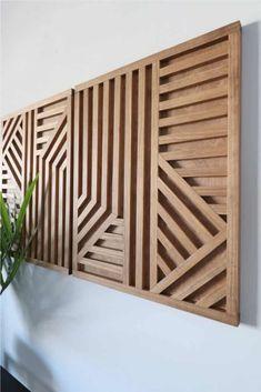 Wood Wall Design, Wood Wall Art Decor, Diy Wall Art, Diy Wall Decor, Diy Wall Hanging, Diy Wooden Wall, Wooden Wall Art, Geometric Wall Art, Regal Design