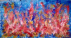 """Underwater Coral Retreat"" - Huge Statement Piece - Full-frontal image, unframed"
