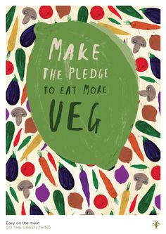 Illustration - Nikki Miles 'Make the pledge to eat more veg!' #Illustration
