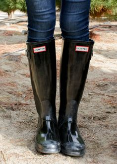 eec3be497 Cutting Down that Christmas Tree | | Moo's Musing. Hunter Boots OutfitHunter  Rain BootsBlack ...