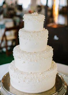 Pearl wedding cake!