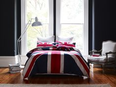Adairs: Home Republic 'Union Jack' #bedroom #bed