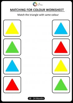 Check out this matching for colours worksheet for your month). This has been designed keeping in mind age-appropriateness and understanding of the child at this stage. Therefore we have introduced the 4 basic colours. Color Worksheets For Preschool, Nursery Worksheets, Matching Worksheets, Free Kindergarten Worksheets, Free Preschool, Working With Autistic Children, English Stories For Kids, Toddler Learning Activities, Vocabulary Activities