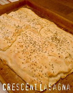 Easy recipe-though not really what most people would think of as 'lasagna'. We actually eat this with morningstar crumbles instead of ground beef.