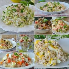 Insalate di riso ricette facili Rice Salad, Soup And Salad, Pasta Recipes, Cooking Recipes, Vegetarian Recipes, Healthy Recipes, Italian Salad, Cold Meals, Rice Dishes