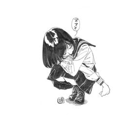 Find images and videos about girl, art and monochrome on We Heart It - the app to get lost in what you love. Manga Drawing, Manga Art, Manga Anime, Amazing Drawings, Art Drawings, Figure Sketching, Anime Sketch, Manga Illustration, Anime Art Girl