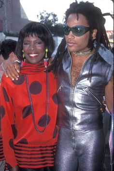 Lenny Kravitz and his mother, Roxie Roker.