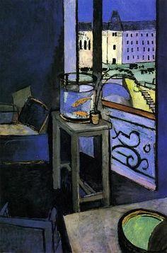 Interno con la vasca per i pesci rossi di Henri Matisse 1914.