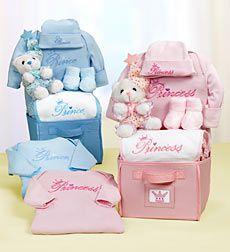 Royal Welcome New Baby Boy or Girl Gift Basket - Prince Baby Boy Basket