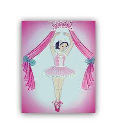 Ballerina Nursery Ballet Nursery Art Print Baby by handpainting