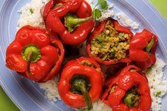 Lentil-Stuffed Bell Peppers