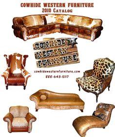 Beautiful cowhide furniture