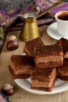 Čokoladni kolač s kestenom - MarinaS Taste Sweet Recipes, Healthy Recipes, Healthy Food, Torte Cake, Tiramisu, Chicken Recipes, Ethnic Recipes, Desserts, Sweets