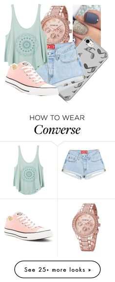 """""""Chill this summer"""" by soph156 on Polyvore featuring Music Notes, RVCA and Converse"""