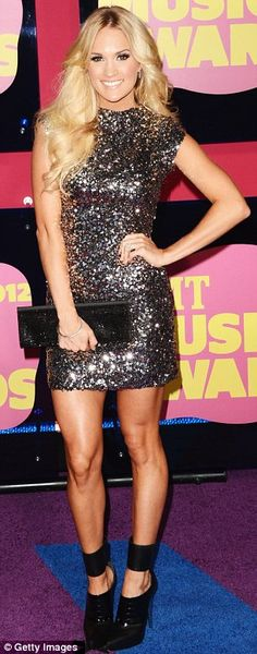 Glamorous girls: Ashley Greene looked ethereal while Carrie Underwood opted for a rock chick style
