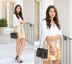 Midas Touch (by Annabelle Fleur) http://lookbook.nu/look/4090510-Rebecca-Minkoff-Bag-Zara-Heels-See-By-Chlo-Skirt