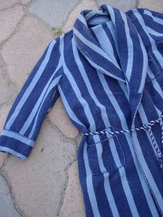 1940s Striped Beacon Robe Mens 3840 2012189 by bycinbyhand on Etsy, $115.00
