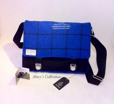 Harris Tweed Handwoven Pure Wool Bright Blue by MarysCollectionUK, £124.99