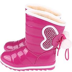 Snow Boots Flat Heel Boots Shaft with Lace-up Outdoor Girl's Shoes – USD $ 19.99
