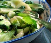 Thai Baby Bok Choy (with vegan substitutes)