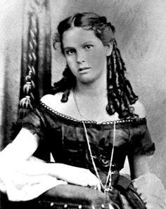 A very old photograph of beautiful Chickasaw girl, Annie Guy (mixed blood). Photo: 1877.
