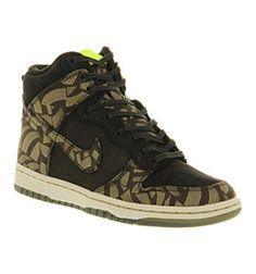 new product 598ef 68859 Nike WMNS NIKE DUNK SKINNY HI BLACK OLIVE SANDTRAP LIBERTY LOTUS JAZZ EXC  Shoes - Nike