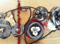 Collane girocollo con fiori di stoffa ...vetrina #sabinanosmokingsibijou